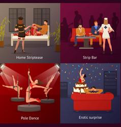erotic dance compositions set vector image