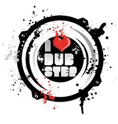 i love dub step vector image