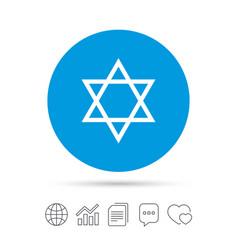 Star of david sign icon symbol of israel vector