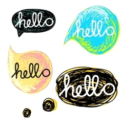 with speech bubble vector image