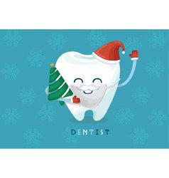 Christmas tooth vector image