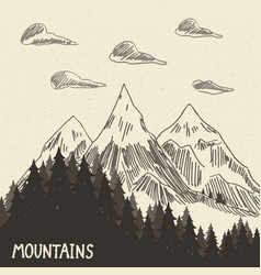mountain nature5 vector image vector image