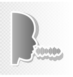 people speaking or singing sign new year vector image