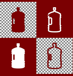 plastic bottle silhouette sign bordo and vector image vector image