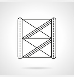 stage construction flat line icon vector image vector image