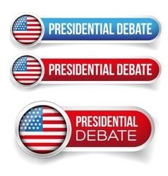 USA Presidential debate vector image