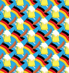 Beer mug and flag of Germany Seamless pattern of vector image