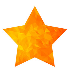 low poly golden star vector image