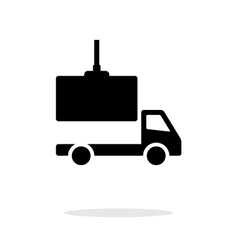 Truck loading simple icon on white background vector image vector image