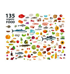 135 organic products vector