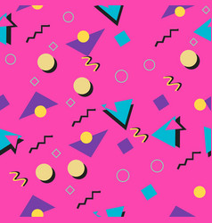 90s and 80s style seamless pink pattern vector image