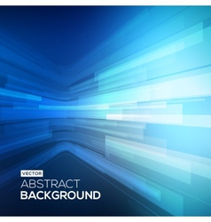 Abstract blue geometric background 3D perspective vector image