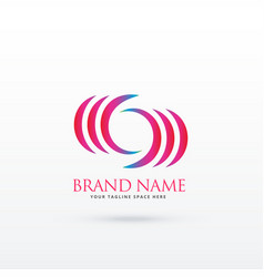 Abstract curvy logo design vector