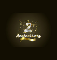 Anniversary celebration background with 2nd vector