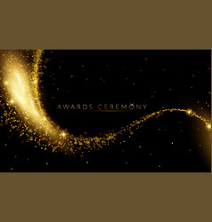 Award nomination ceremony luxury background with vector
