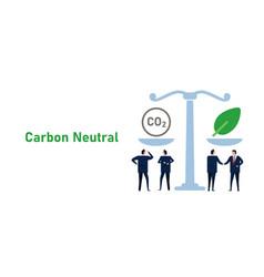 Balancing carbon neutral co2 gas emission offset vector