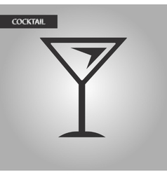 black and white style martini glass vector image