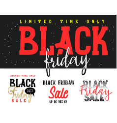 black friday calligraphic handmade lettering vector image