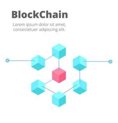 blockchain concept isometric blockchain vector image