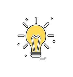Blub light electric icon design vector