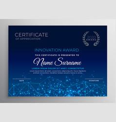 Blue innovation technology template design vector