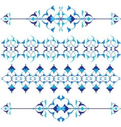 Blue oriental border and ornament vector