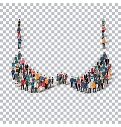 bra people 3d vector image
