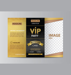 brochure template invitation for vip party vector image