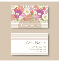 Business card with flowers vector