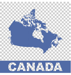 canada map flat vector image