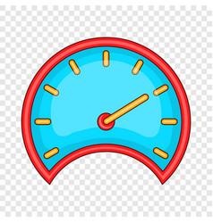 car speedometer icon cartoon style vector image