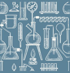chemical sketch pattern vector image