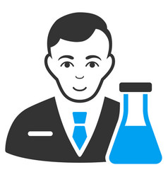 Chemistry man flat icon vector