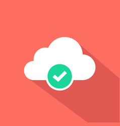 cloud computing verified icon vector image