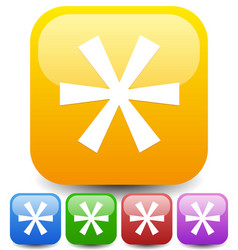 Colorful asterisk icon footnote appendix icon vector
