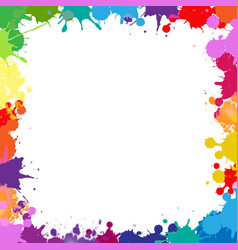 colorful frame with blobs isolated white vector image