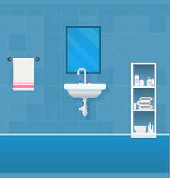 concept bathroom interior vector image