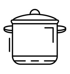 cooker pan icon outline style vector image