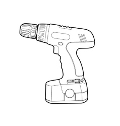 cordless drill vector image vector image