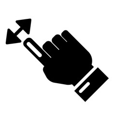 cursor motion icon simple black style vector image
