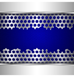 Damaged perforated metal plate vector