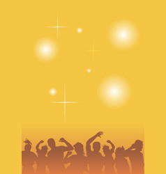 Dancing people at a party vector