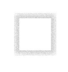 dotted square frame vector image