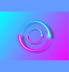 dynamic circles neon effect sci-fi futuristic logo vector image