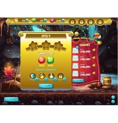 Example user interface a computer game a vector