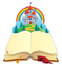 fairy tale book theme image 1 vector image