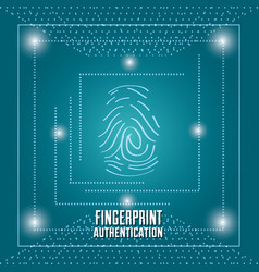 Fingerprint authentication digital technology vector