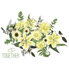Floral bouquet design green forest leaf fern vector