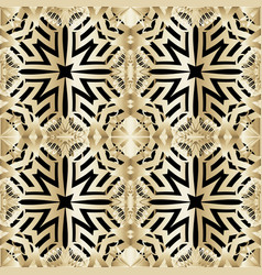 floral greek style seamless pattern vector image