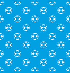 football pattern seamless blue vector image
